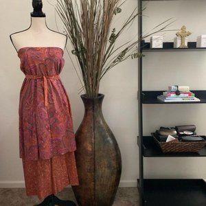 Sweetees Multifunctional Paisley Dress/Skirt M